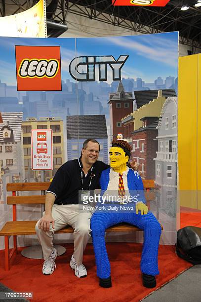 Toys new and classic at the Toy Show at Javits Center Sunday Which is the Lego man and which is real