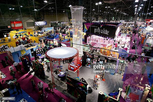 Toys of all sizes and types are displayed at the Jacob K. Javits Convention Center February 13, 2006 in New York City. The annual show attracts toy...