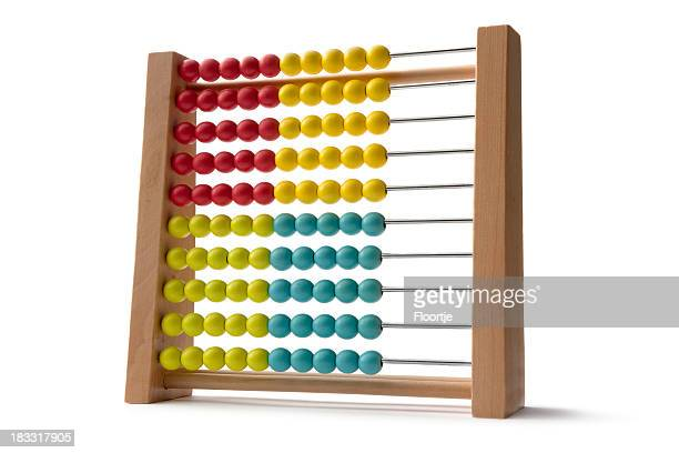 Toys: Wooden Abacus Isolated on White Background