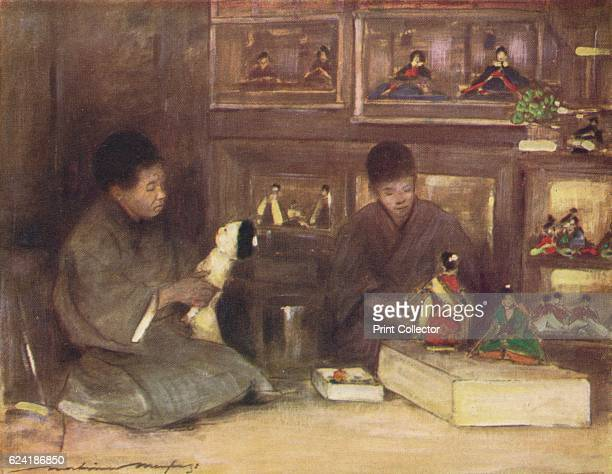 A ToyShop' c1887 From Japan A Record in Colour by Mortimer Menpes [Adam Charles Black London 1901] Artist Mortimer L Menpes