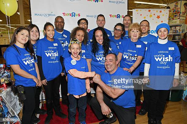 ToysRUs and Make-A-Wish provide 7-year old Jeiden with an awesome birthday experience at a ToysRUs in Secaucus, in celebration of World Wish Day at a...