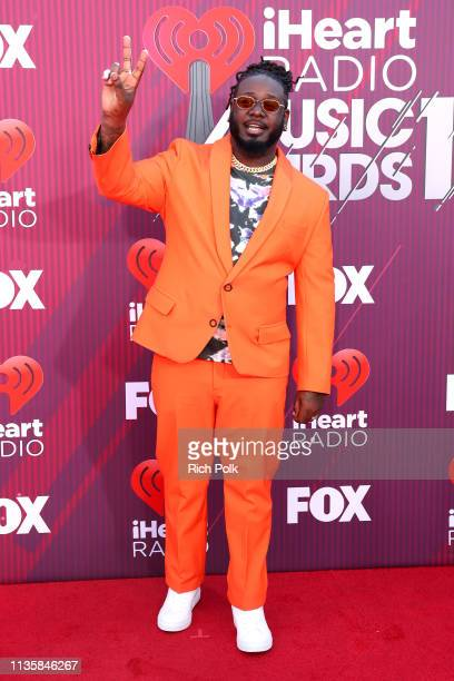 TPain attends the 2019 iHeartRadio Music Awards which broadcasted live on FOX at Microsoft Theater on March 14 2019 in Los Angeles California
