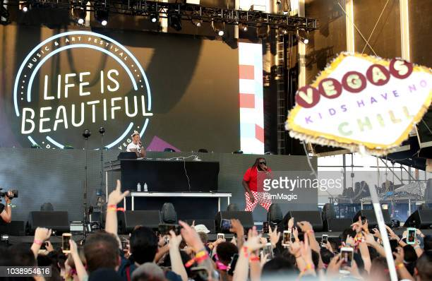 Pain performs on Bacardi Sound of Rum Stage during the 2018 Life Is Beautiful Festival on September 23 2018 in Las Vegas Nevada