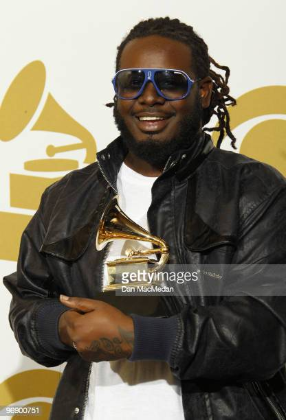 Pain poses with his award for Best R&B Performance By A Duo Or Group With Vocals in the press room at the 52nd Annual GRAMMY Awards held at Staples...