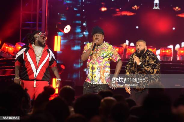 Pain Trick Daddy and DJ Khaled perform onstage during the BET Hip Hop Awards 2017 at The Fillmore Miami Beach at the Jackie Gleason Theater on...