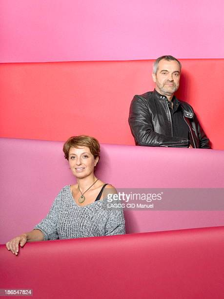 tPhilippe Mayaux and Carole Benzaken at the International Fair of Contemporary Art pose on October 01 2013 in Paris France