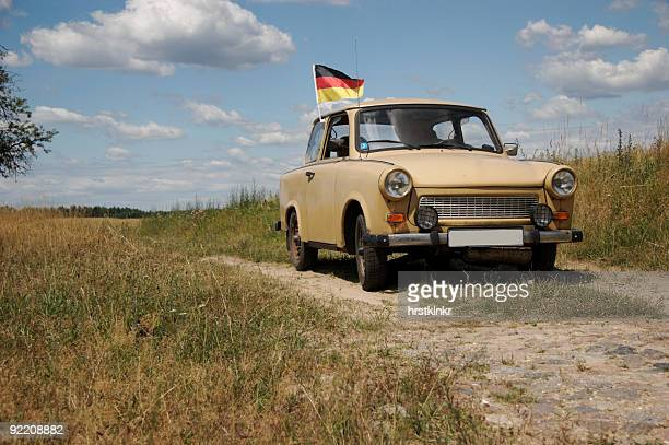 trabant, car from gdr, built 1986 - east germany stock pictures, royalty-free photos & images