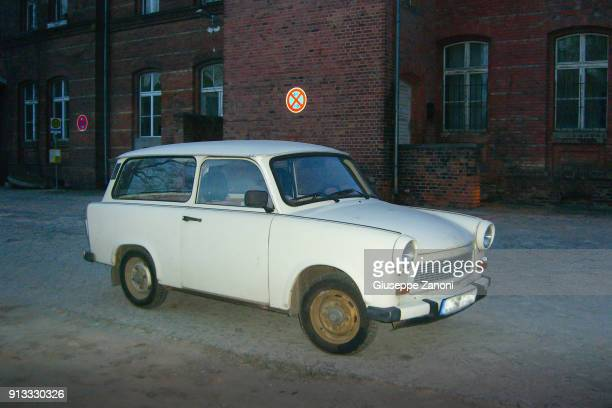 trabant car - east berlin stock pictures, royalty-free photos & images