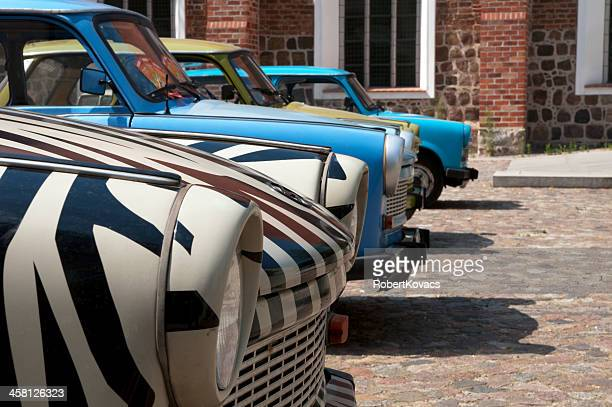Trabant cars in East Berlin