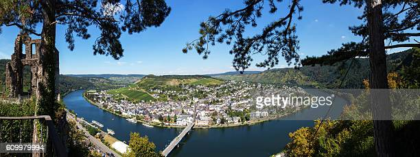 Traben-Trarbach near Moselle River - Panorama