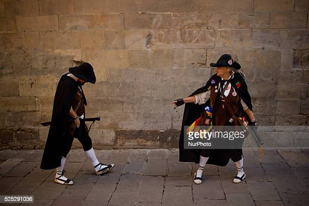 Trabucaires through the streets of Barcelona on the occasion of the celebrations of the Merce Festival on 24 September 2015 Spain The Galejada...