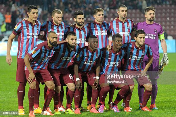 Trabzonspor AS players pose for a team photo before the UEFA Europa League Group L match between Trabzonspor AS and Legia Warszawa at the Hüseyin...