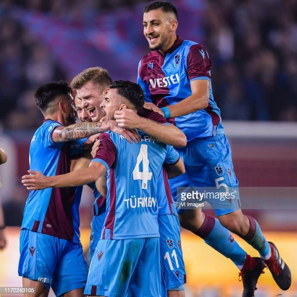 Trabzonspor celebrate the goal of Alexander Sorloth of Trabzonspor AS during the Turkish Spor Toto Super Lig match between Trabzonspor AS and...