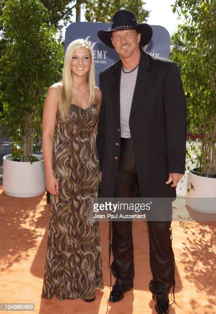 Trace Adkins and guest during 38th Annual Academy of Country Music Awards Arrivals at Mandalay Bay Event Center in Las Vegas Nevada United States