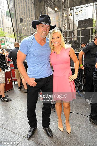 Trace Adkins and Juliet Huddy attend FOX Friends All American Concert Series outside of FOX Studios on August 1 2014 in New York City