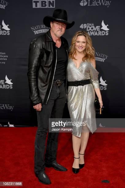 Trace Adkins and Victoria Pratt attend the 49th Annual GMA Dove Awards at Allen Arena, Lipscomb University on October 16, 2018 in Nashville,...