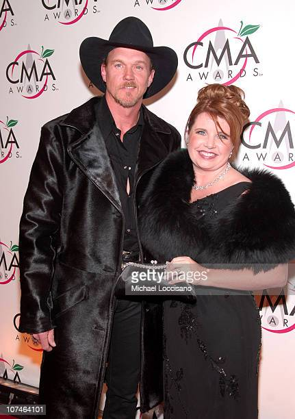 Trace Adkins and wife Rhonda Forlaw during The 39th Annual CMA Awards Arrivals at Madison Square Garden in New York City New York United States