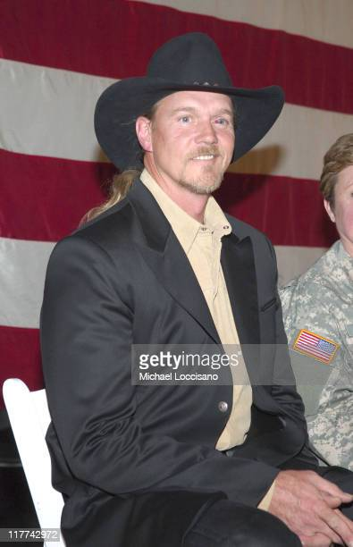 Trace Adkins during Country Takes New York City Intrepid Wreath Ceremony at One Intrepid Square in New York City New York United States