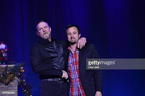 Trace Adkins introduces Jon Coleman on stage during 'The Christmas Show' Tour A night of narration history and soulstirring Celtic at Sands Bethlehem...