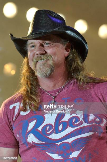 Trace Adkins performs during Keith Urban's Fourth annual We're All For The Hall benefit concert at Bridgestone Arena on April 16 2013 in Nashville...