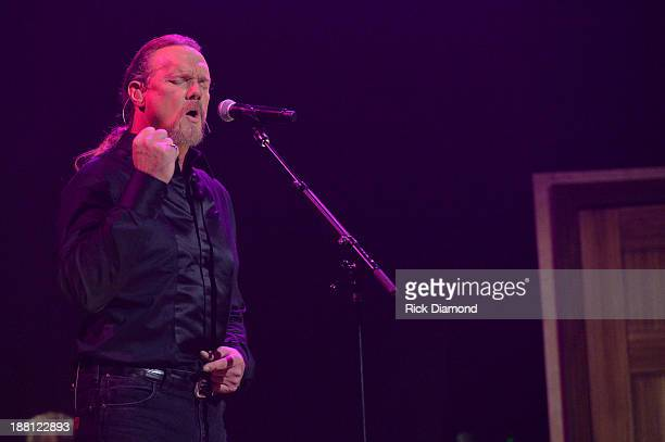 Trace Adkins performs during 'The Christmas Show' Tour A night of narration history and soulstirring Celtic on November 14 2013 in Nashville Tennessee