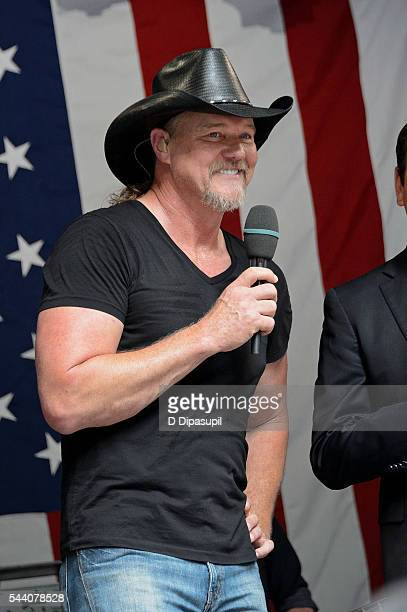 Trace Adkins performs onstage during 'FOX Friends' All American Concert Series outside of FOX Studios on July 1 2016 in New York City