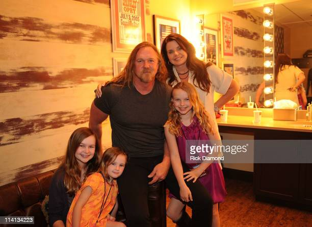 Trace Adkins Rhonda Adkins and family attend Music Builds the CMT Disaster Relief Concert on May 12 2011 in Nashville Tennessee