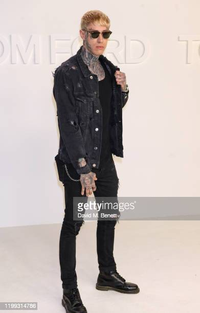 Trace Cyrus attends the Tom Ford AW20 show at Milk Studios on February 7, 2020 in Hollywood, California.