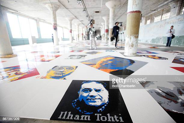 'Trace' installation features 175 colorful portraits made of LEGO bricks representing individuals who have been imprisoned or exiled because of their...
