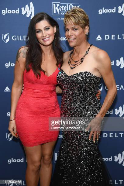 Trace Lysette and Alexandra Billings attend the 30th Annual GLAAD Media Awards New York at New York Hilton Midtown on May 04 2019 in New York City