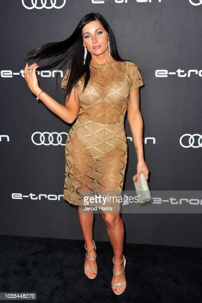 Trace Lysette arrives at Audi Celebrates The 70th Emmys at Kimpton La Peer Hotel on September 14 2018 in West Hollywood California