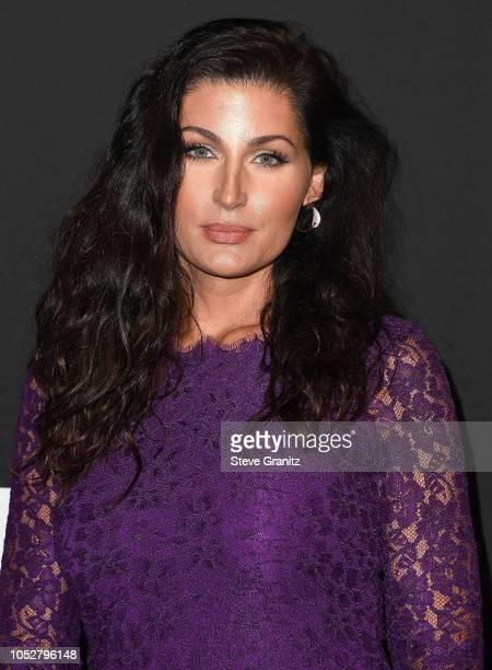 Trace Lysette arrives at the 2018 InStyle Awards at The Getty Center on October 22 2018 in Los Angeles California