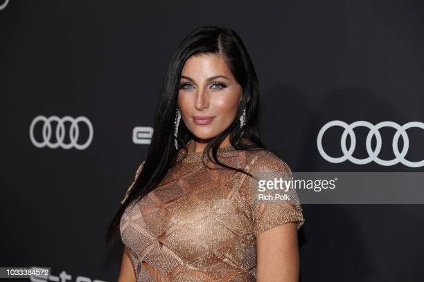Trace Lysette attends the Audi preEmmy celebration at the La Peer Hotel in West Hollywood on Friday September 14 2018