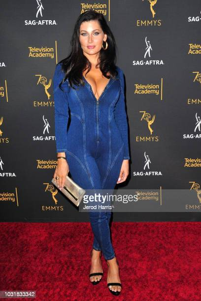 Trace Lysette attends the Television Academy and SAGAFTRA CoHost Dynamic Diverse Emmy Celebration at Saban Media Center on September 11 2018 in North...