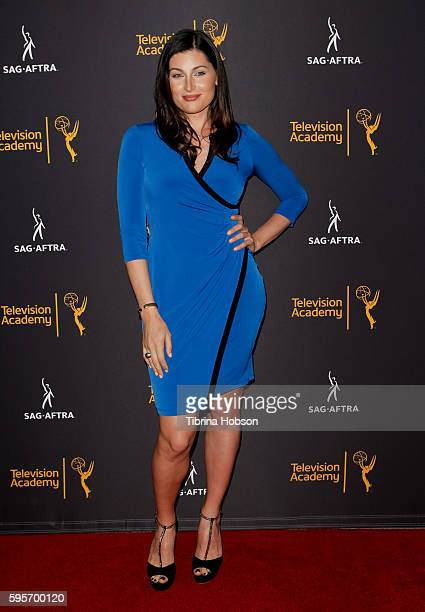 Trace Lysette attends the Television Academy and SAGAFTRA's 4th annual Dynamic and Diverse Celebration at Saban Media Center on August 24 2016 in...