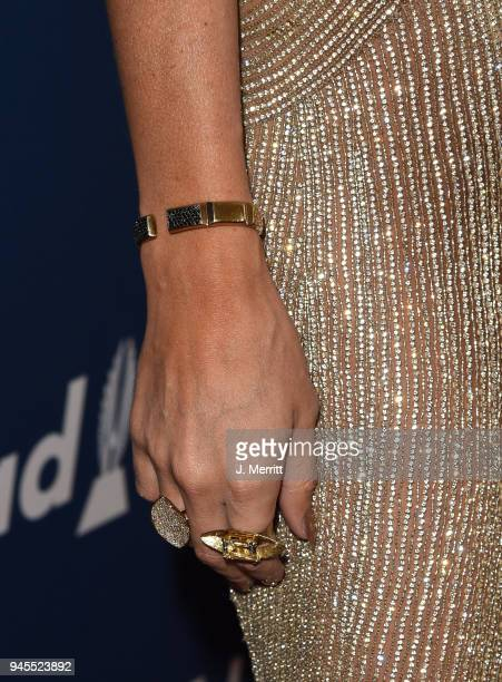 Trace Lysette fashion detail attends the 29th Annual GLAAD Media Awards at The Beverly Hilton Hotel on April 12 2018 in Beverly Hills California