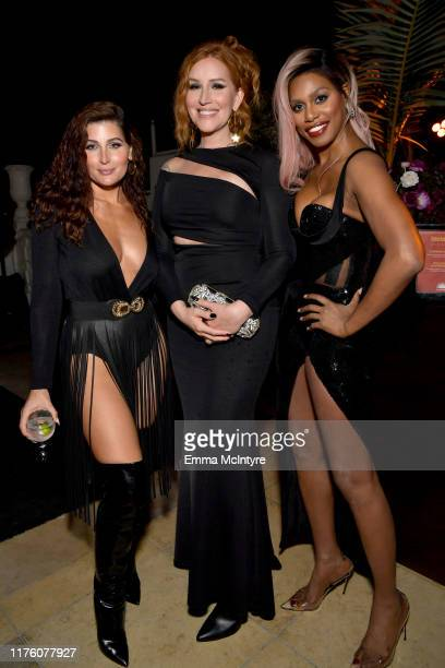 Trace Lysette, Our Lady J, and Laverne Cox attend the 2019 Pre-Emmy Party hosted by Entertainment Weekly and L'Oreal Paris at Sunset Tower Hotel in...