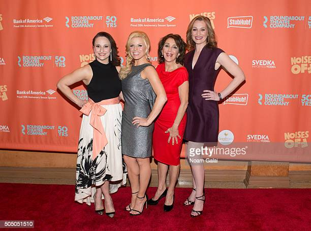 Tracee Chimo Megan Hilty Andrea Martin and Kate Jennings Grant attend Noises Off Broadway opening night at American Airlines Theatre on January 14...