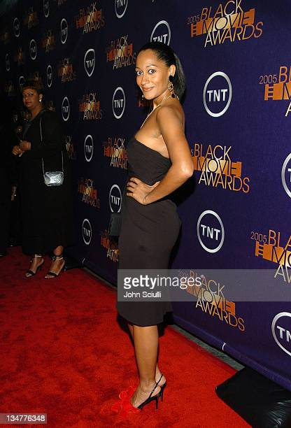 Tracee Ellis Ross 10224_JSc_04032JPG during 2005 TNT Black Movie Awards Red Carpet at Wiltern in Los Angeles California United States