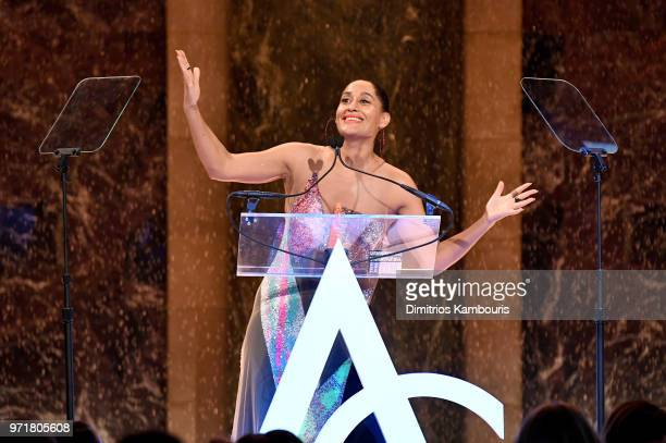 Tracee Ellis Ross accepts the Style Ambassador Award onstage during the 22nd Annual Accessories Council ACE Awards at Cipriani 42nd Street on June 11...