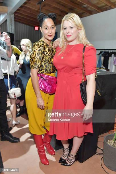 Tracee Ellis Ross and Amanda de Cadenet attend Conde Nast The Women March's Cocktail Party to Celebrate the One Year Anniversary of the March the...
