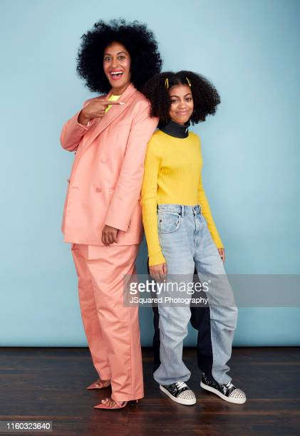 Tracee Ellis Ross and Arica Himmel of ABC's 'Mixedish' pose for a portrait during the 2019 Summer Television Critics Association Press Tour at The...