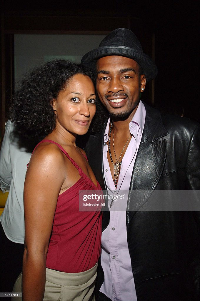 Tracee Ellis Ross and Bill Bellemy at the Monroe's in West Hollywood, California