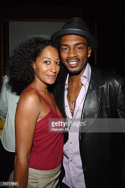 Tracee Ellis Ross and Bill Bellemy at the Monroe's in West Hollywood California