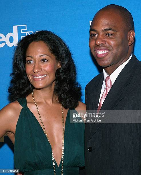 Tracee Ellis Ross and Kevin Frazier during The 37th Annual NAACP Image Awards Nominee Luncheon Arrivals at Beverly Hilton Hotel in Beverly Hills...