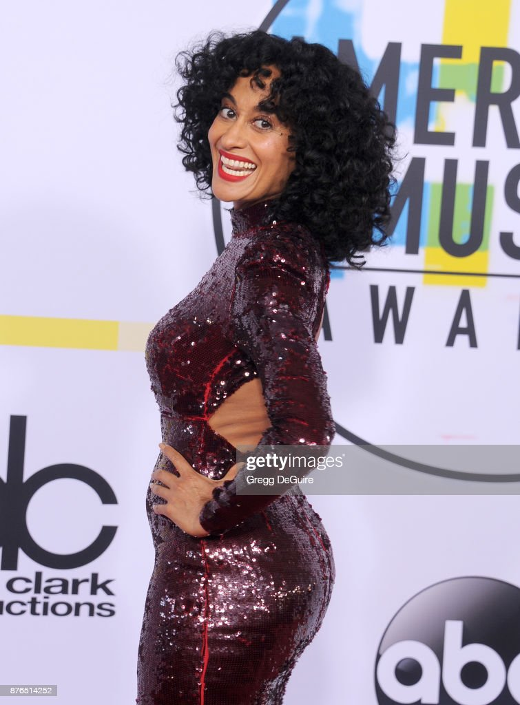 Tracee Ellis Ross arrives at the 2017 American Music Awards at Microsoft Theater on November 19, 2017 in Los Angeles, California.