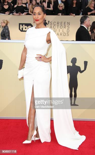 Tracee Ellis Ross arrives at the 24th Annual Screen Actors Guild Awards at The Shrine Auditorium on January 21 2018 in Los Angeles California