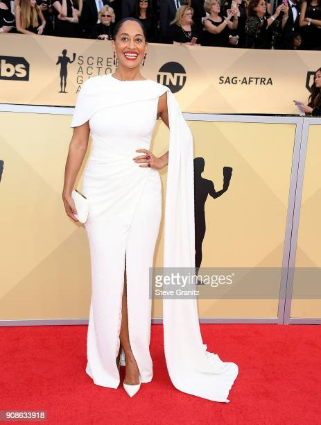 Tracee Ellis Ross arrives at the 24th Annual Screen ActorsGuild Awards at The Shrine Auditorium on January 21 2018 in Los Angeles California