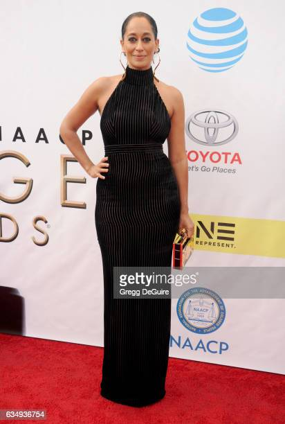 Tracee Ellis Ross arrives at the 48th NAACP Image Awards at Pasadena Civic Auditorium on February 11 2017 in Pasadena California
