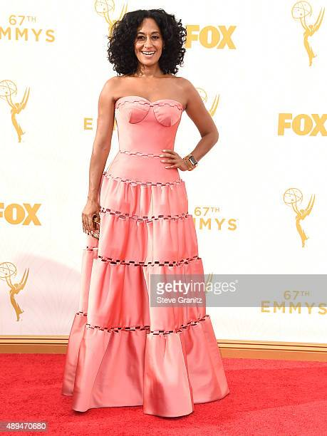 Tracee Ellis Ross arrives at the 67th Annual Primetime Emmy Awards at Microsoft Theater on September 20 2015 in Los Angeles California